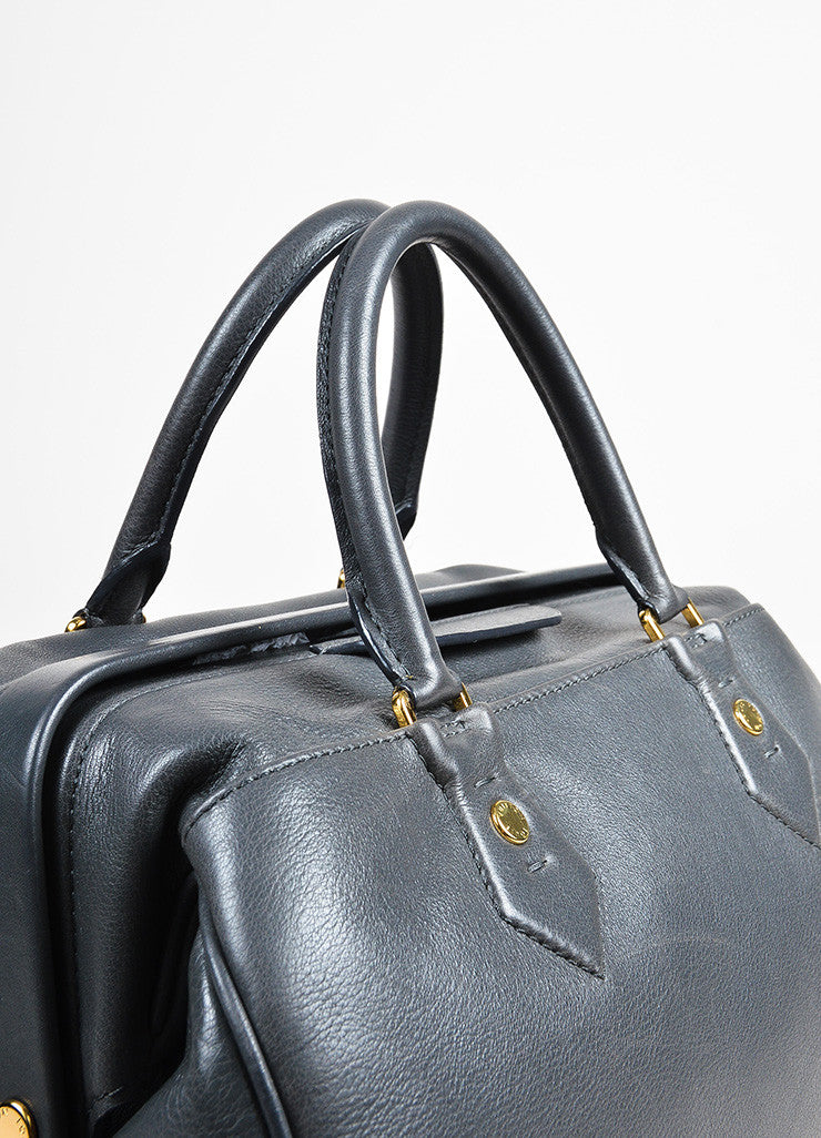 Louis Vuitton Ltd. Edition Grey Leather Top Handle Cinema Intrigue Bag Detail 3