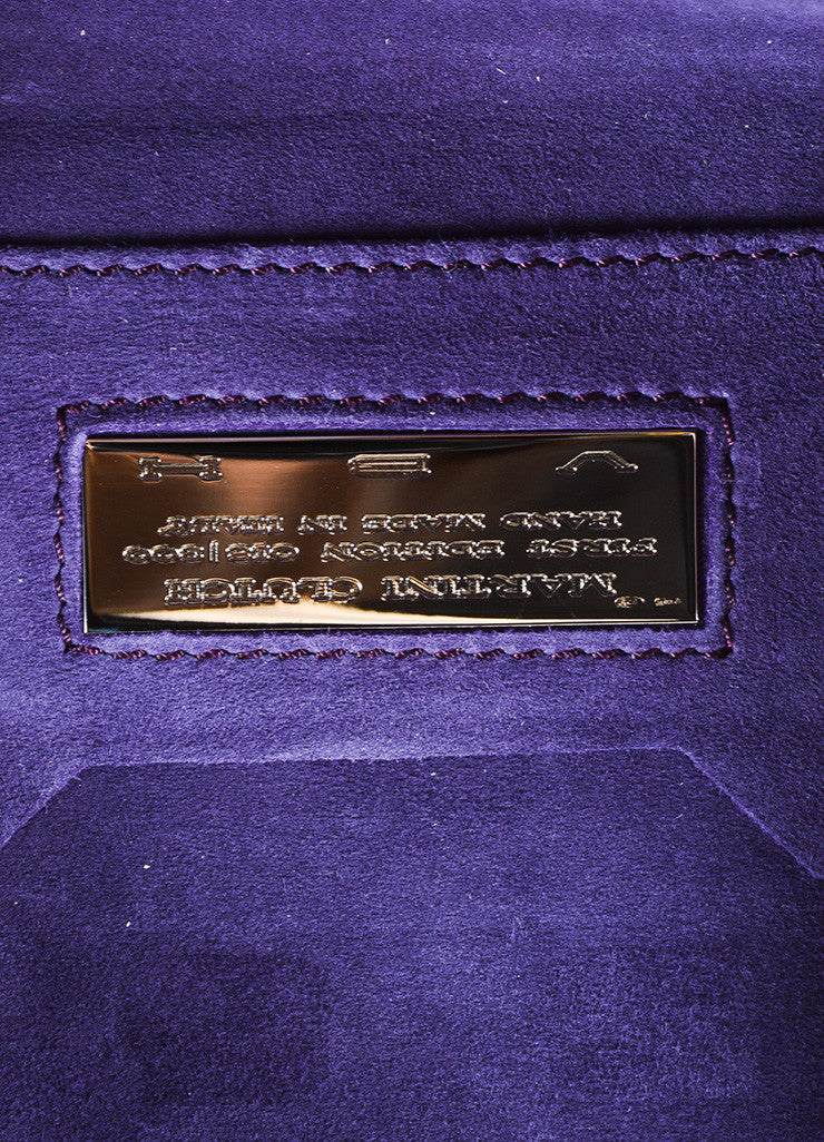 "VBH Purple Satin Stitch Detail ""Martini"" Clutch Bag Brand"