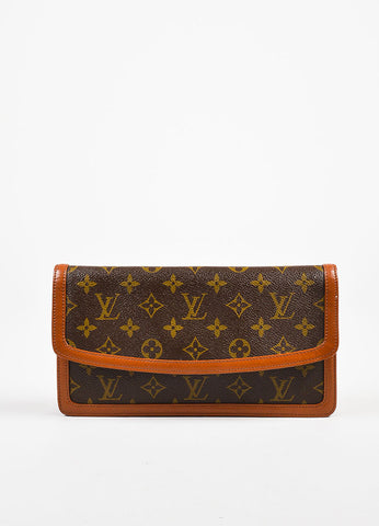 "Louis Vuitton Monogram Canvas ""Pochette Dame"" Clutch Bag Frontview"