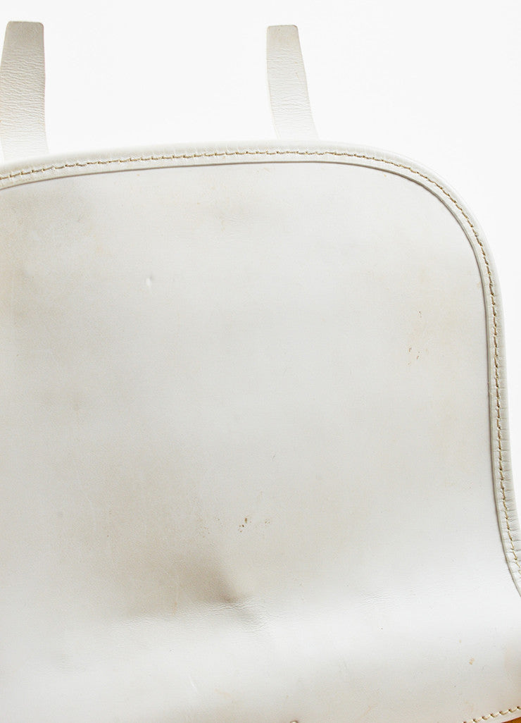 "Goyard White Goyardine Coated Canvas ""Belvedere PM"" Leather Crossbody Bag Detail 3"