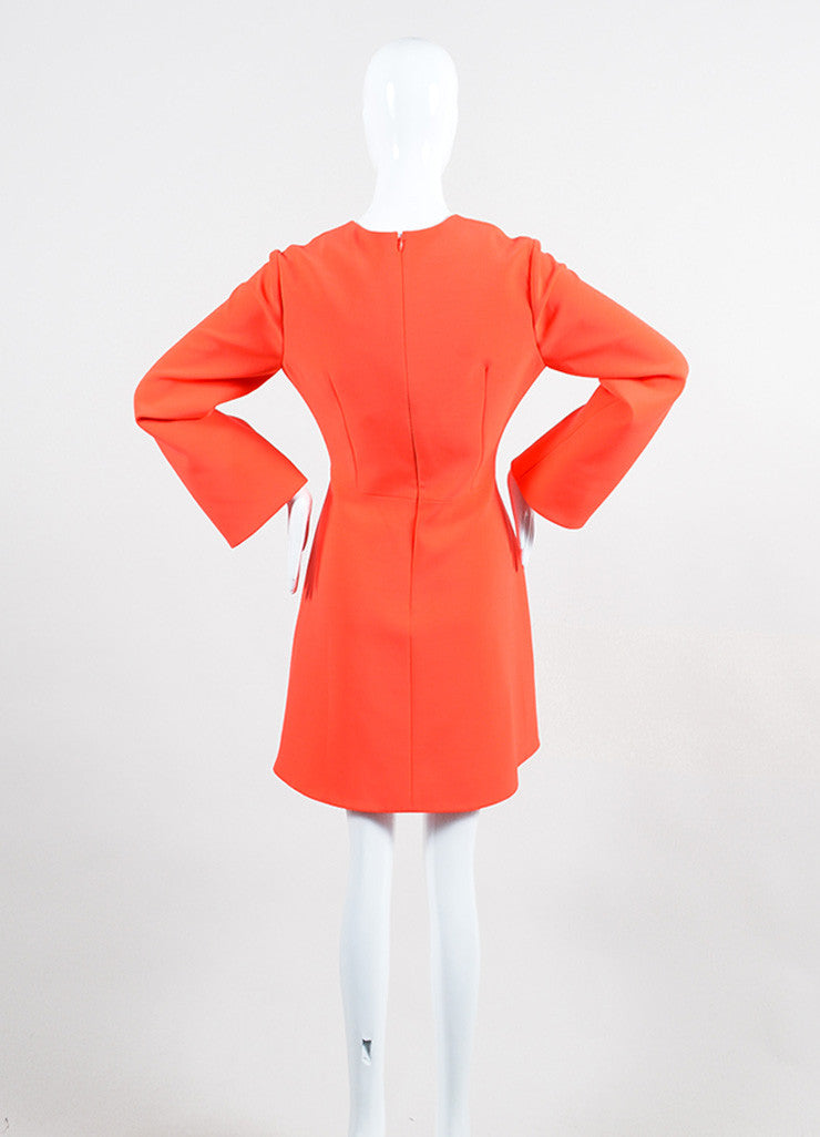 "Coral and Lavender Roksanda Color Block Crepe ""Albin"" A-Line Dress Backview"