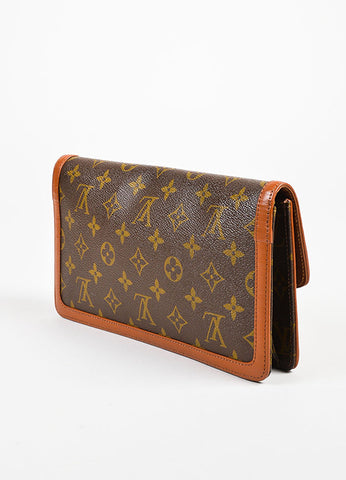 "Louis Vuitton Monogram Canvas ""Pochette Dame"" Clutch Bag sideview"