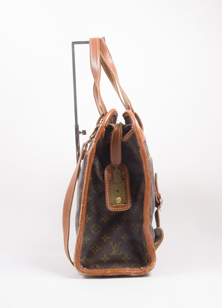 Louis Vuitton Brown Monogram Canvas Convertible Bag Sideview