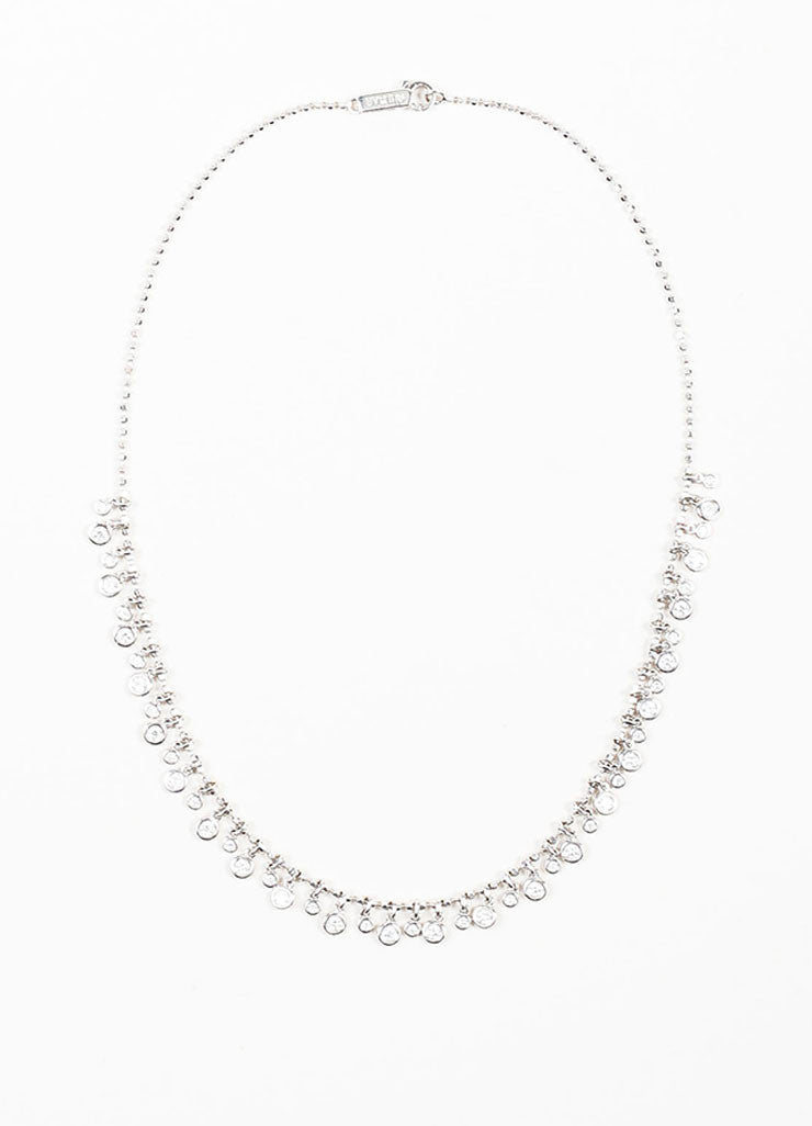 Aspery & Guldag 18K White Gold Bezel Set Diamond Chain Necklace Frontview