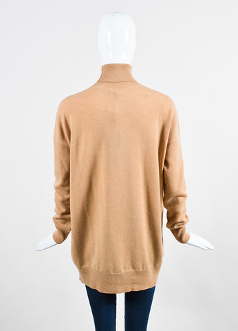 Gucci Tan Cashmere Long Sleeve Turtleneck Oversized Sweater Backview