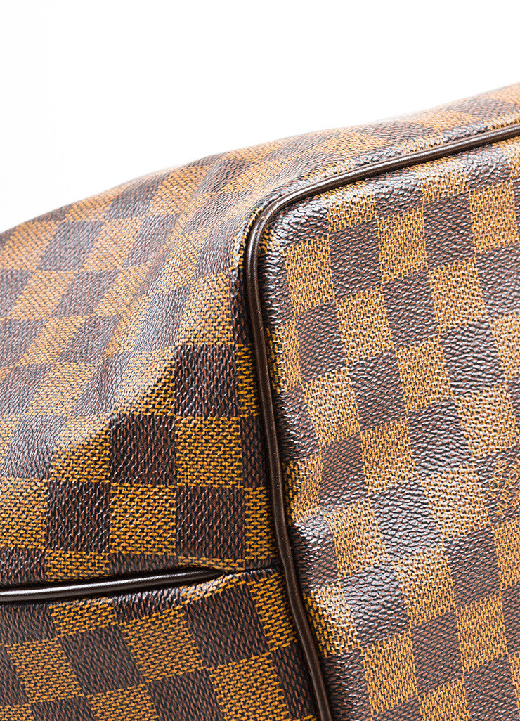 "Louis Vuitton Damier Ebene Canvas ""Westminster GM"" Tote Bag Detail"