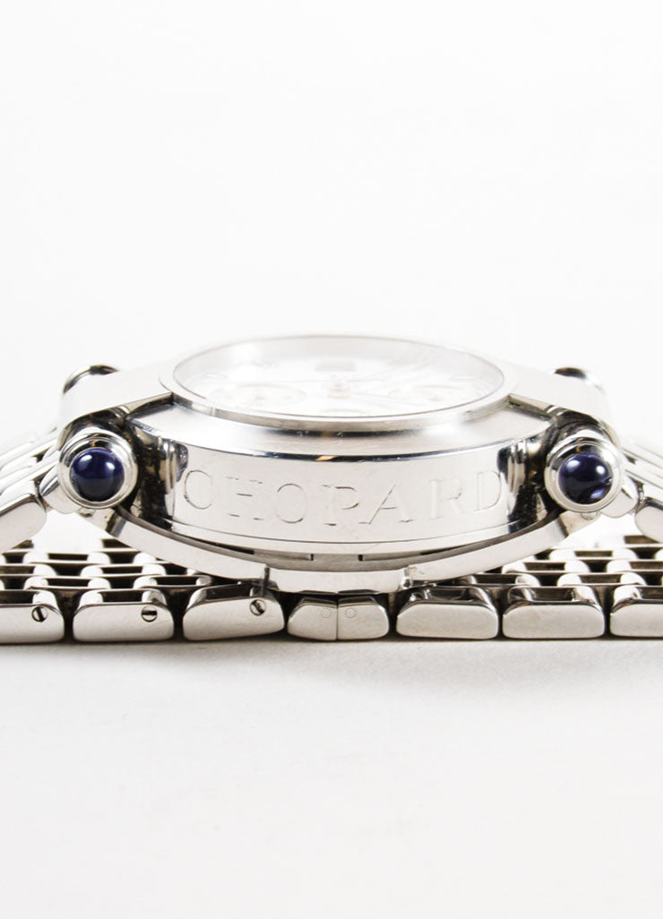 "Chopard Silver Stainless Steel ""Imperiale"" Chronograph Bracelet Watch Detail 2"