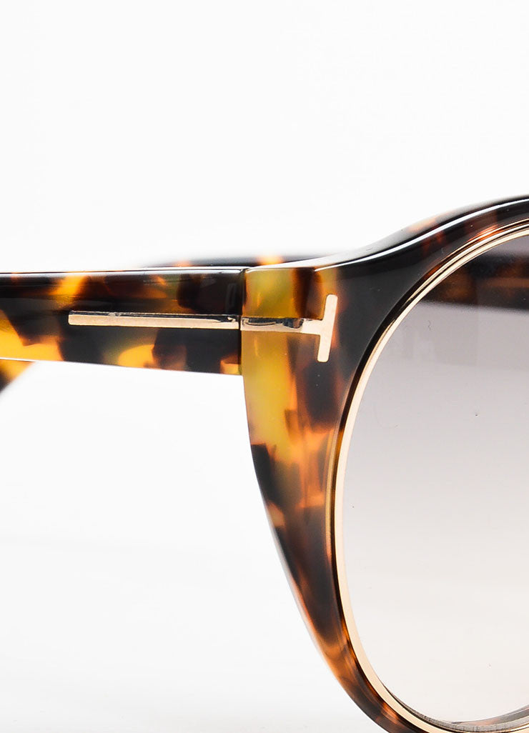 "Tom Ford Brown GHW ""Havana"" Tortoiseshell ""Joan"" Sunglasses Detail"