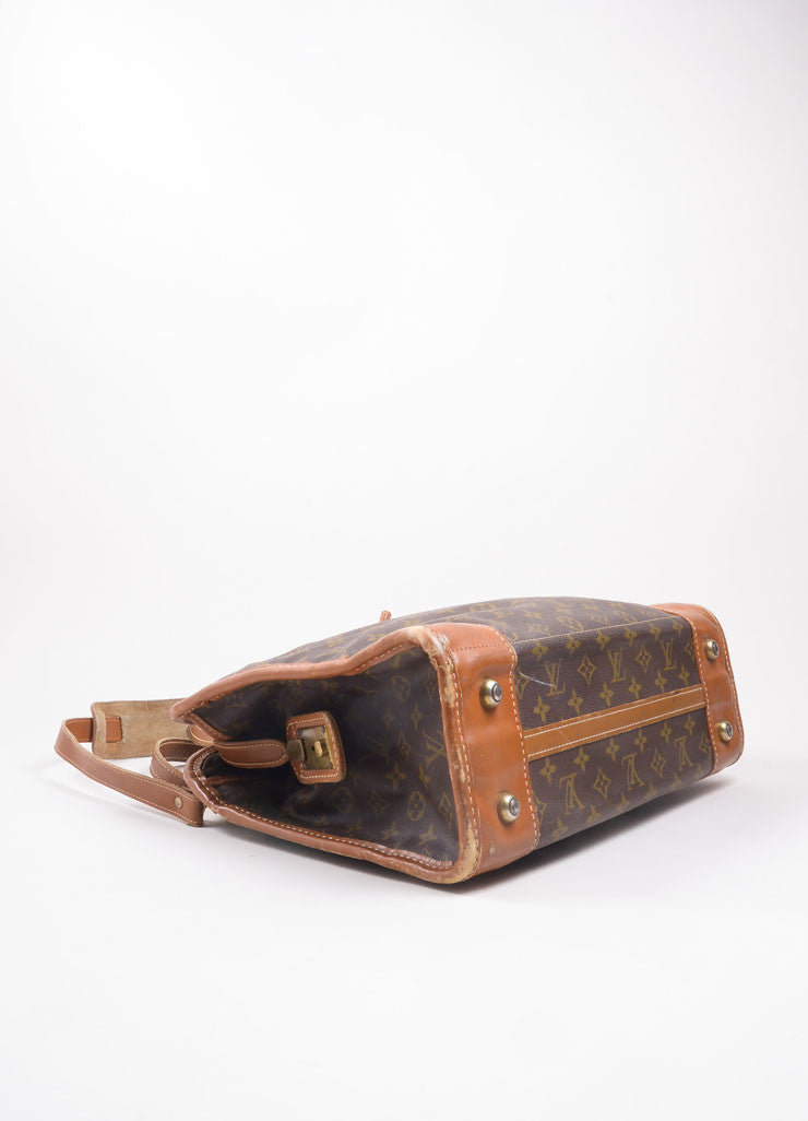 Louis Vuitton Brown Monogram Canvas Convertible Bag Bottom View