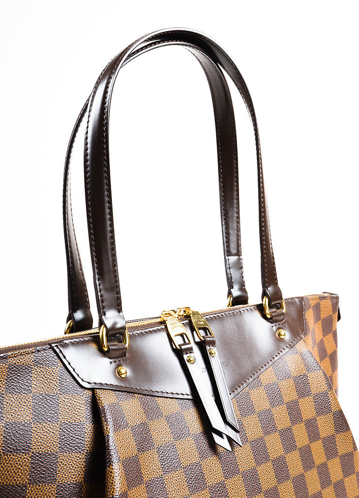 "Louis Vuitton Damier Ebene Canvas ""Westminster GM"" Tote Bag Detail 2"
