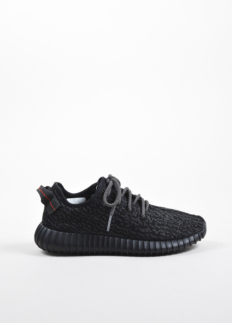 Men's Yeezy x Adidas Pirate Black Low Top Sneakers Sideview