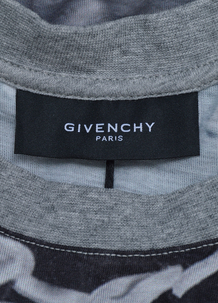 Men's Givenchy Grey and Black Laced Photo Print Tank Top Brand