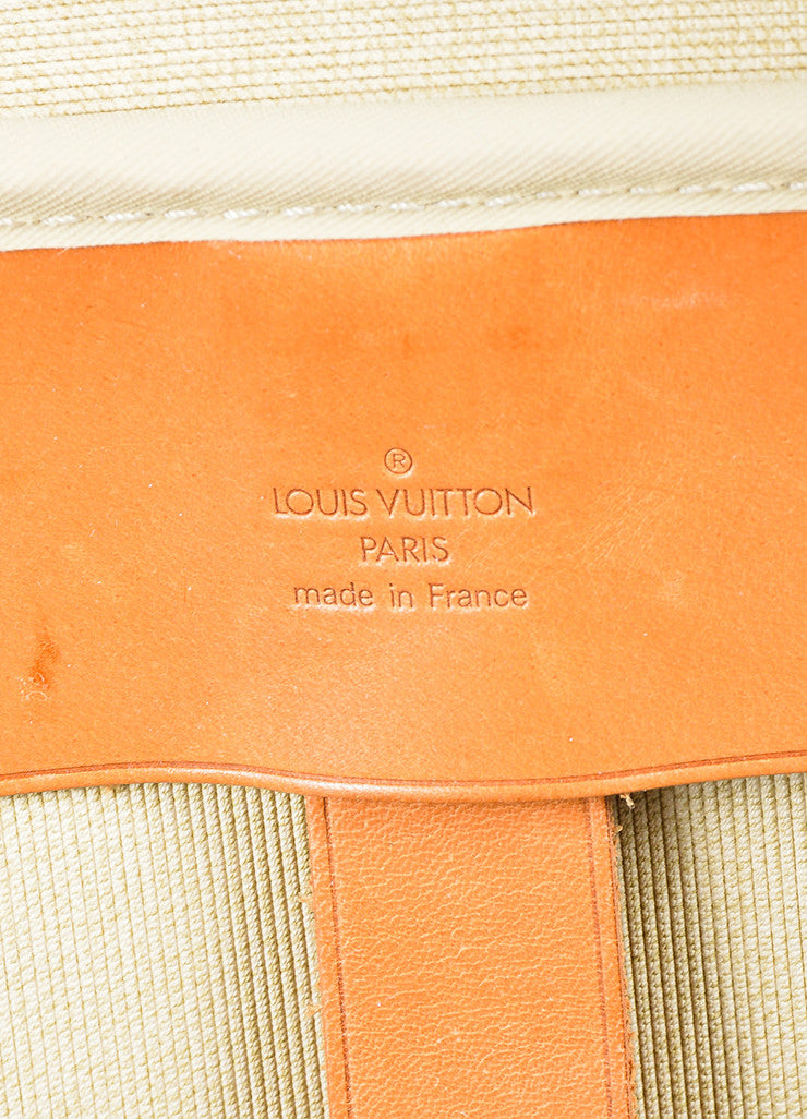 "Louis Vuitton Brown and Tan Canvas and Leather Monogram ""Sirius 60"" Suitcase Brand"