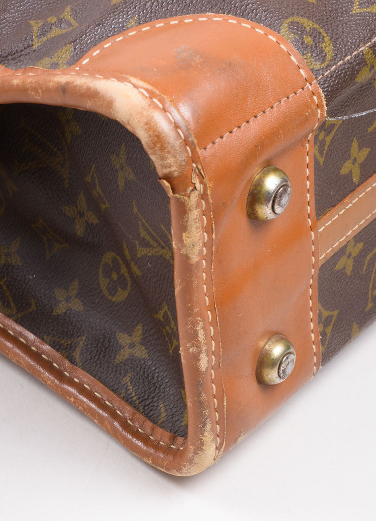 Louis Vuitton Brown Monogram Canvas Convertible Bag Detail