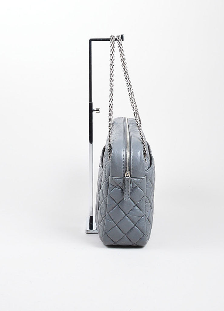 Chanel Grey Reissue Large Camera Bag Sideview