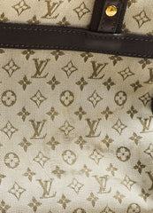 "Beige & Green Louis Vuitton Canvas Monogram ""Josephine PM"" Bag Detail 5"