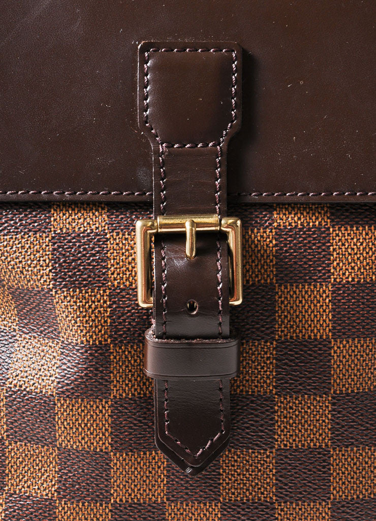 "Louis Vuitton Brown Damier Canvas Ebene ""Soho"" Backpack Detail 2"