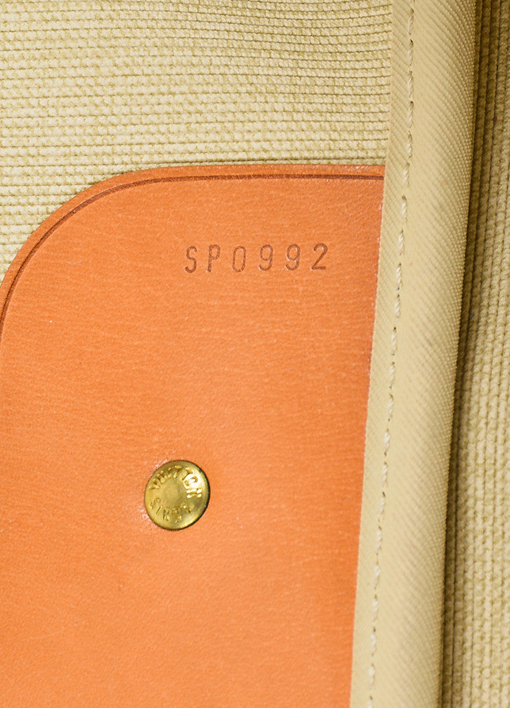 "Louis Vuitton Brown and Tan Canvas and Leather Monogram ""Sirius 60"" Suitcase Date Code"