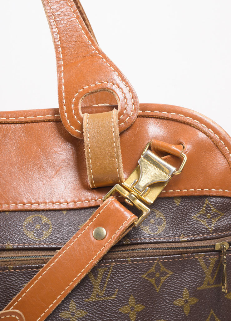 Louis Vuitton Brown Monogram Canvas Convertible Bag Detail 2