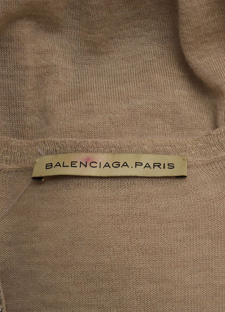 Balenciaga Tan and Silver Metallic Beaded Oversized Cashmere Sleeveless Vest Brand