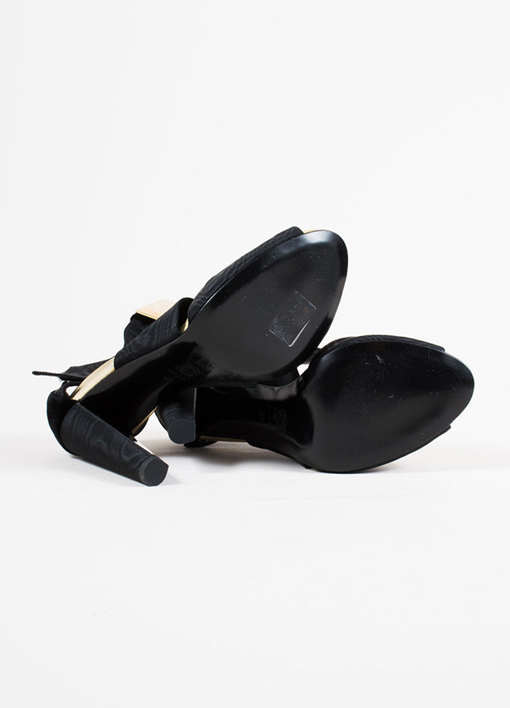 Pierre Hardy Black Velvet Cube Embellished Sandals  bottom