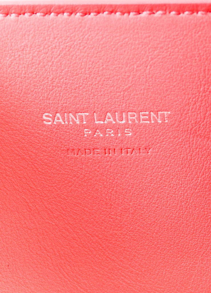 "Saint Laurent Pink Grain Leather ""Nano Sac de Jour"" Bag Brand"
