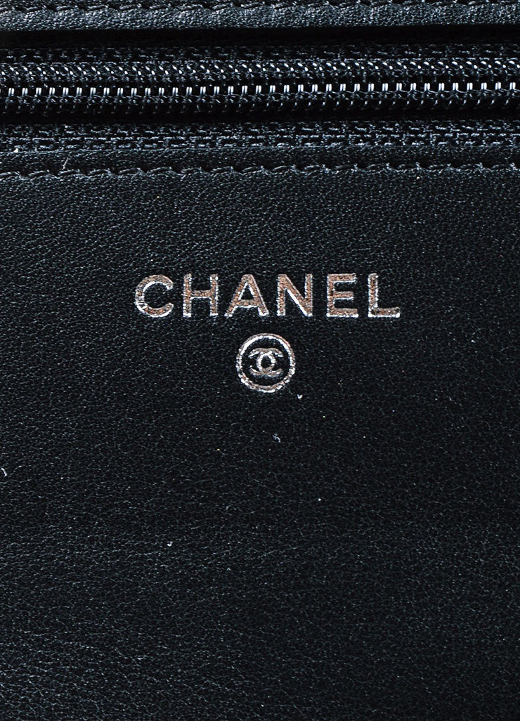 Black and Multicolor Chanel Patent Leather Convertible Clutch Crossbody Bag Brand