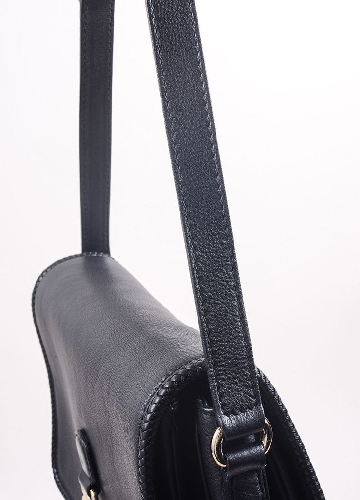 "Gucci Black Leather ""GG"" Tassel Flap ""Marrakech"" Messenger Bag Detail 2"