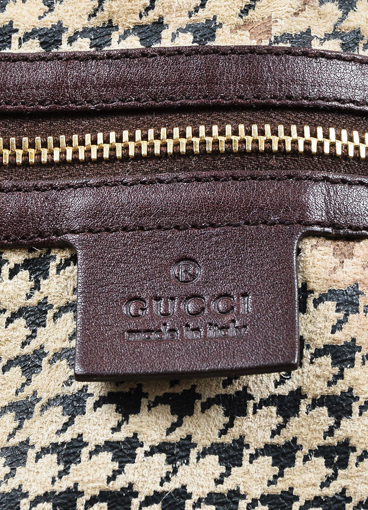 "Brown and White Gucci Fitch Fur Leather Limited Edition ""Pelham Medium"" Bag Brand"