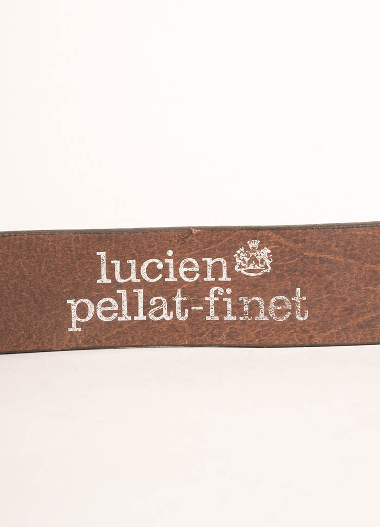 Lucien Pellat-Finet Brown and Black Leather Skull Buckle Belt Brand