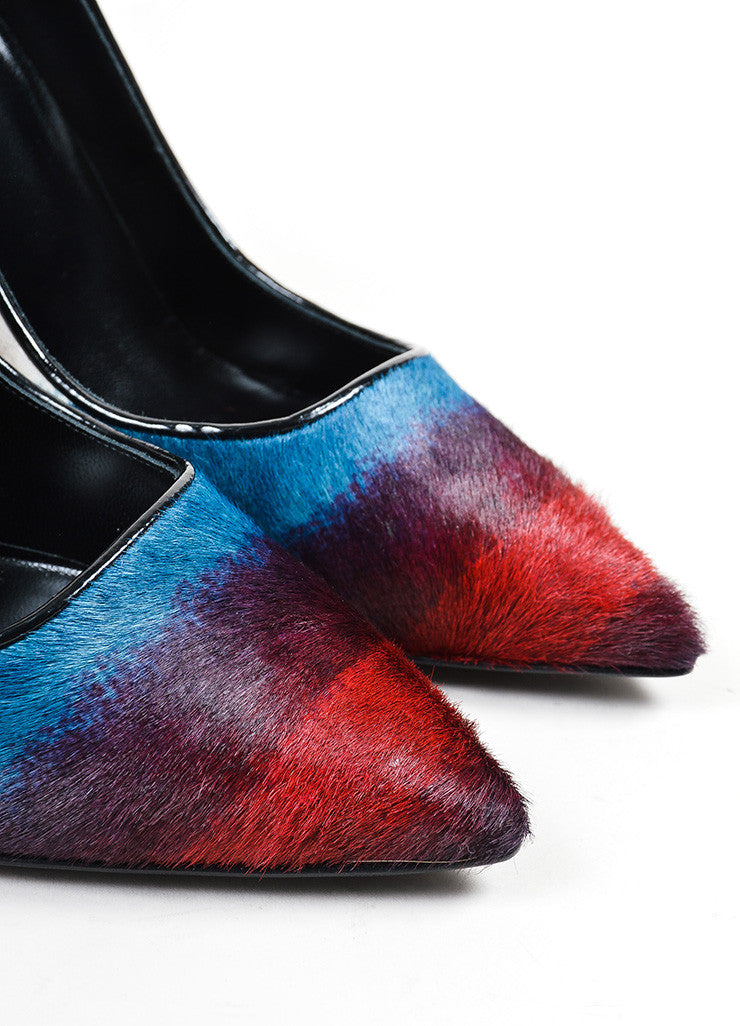 Multicolor Pierre Hardy Haircalf Pointed Toe Pumps Detail
