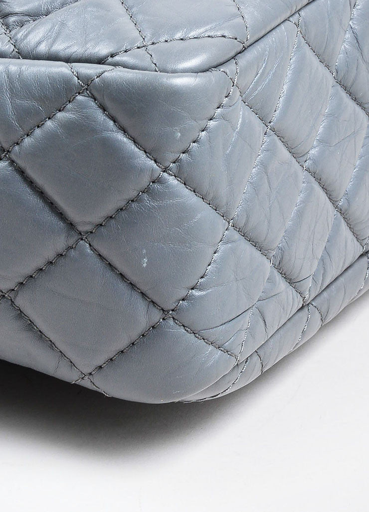 Chanel Grey Reissue Large Camera Bag Detail