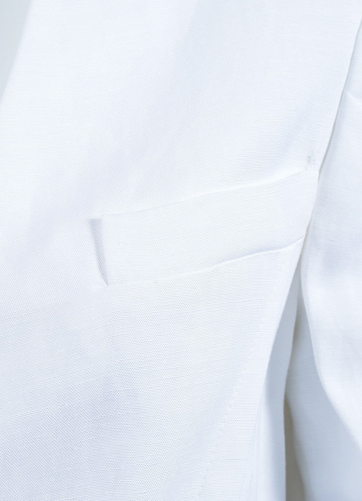 White Haider Ackermann Mixed Material Blazer Jacket Detail