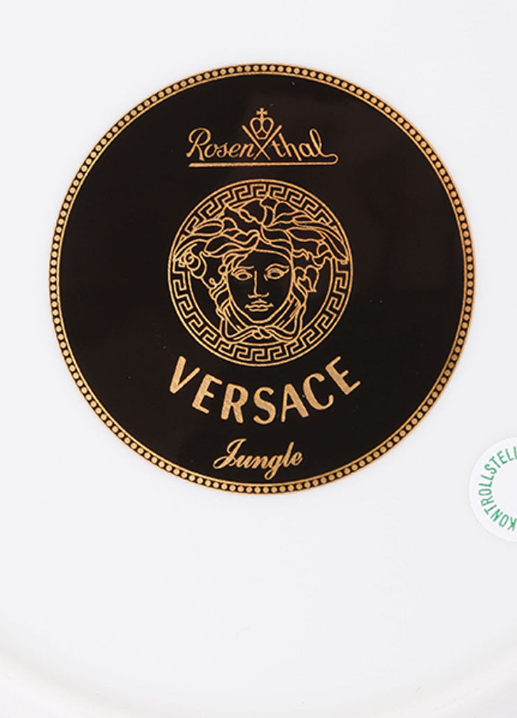 "Versace Rosenthal Green and Blue ""Jungle"" 7 inch Bread and Butter Plate Brand"