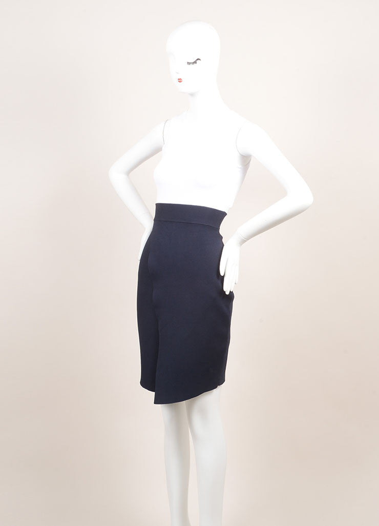 A.L.C. New With Tags White, Navy, and Orange Knit Color Block Bodycon Dress Sideview