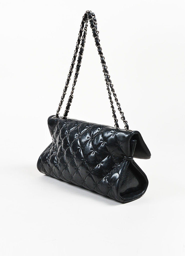 Black Chanel Quilted Crackled Leather Mademoiselle Bag – Luxury ... : black chanel quilted bag - Adamdwight.com
