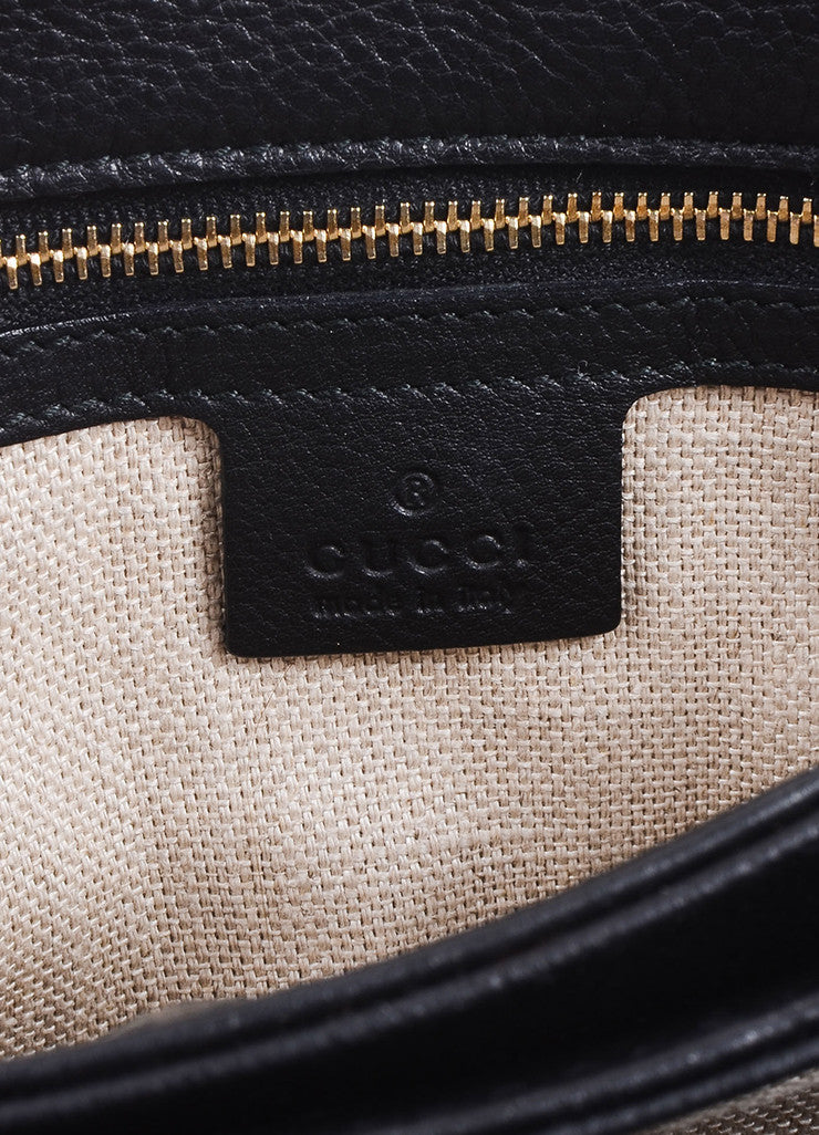 "Gucci Black Leather ""GG"" Tassel Flap ""Marrakech"" Messenger Bag Brand"