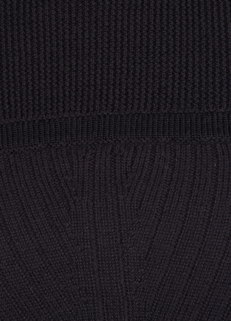"Isabel Marant New With Tags Charcoal Grey Wool Knit ""Bingham"" Dress Detail"