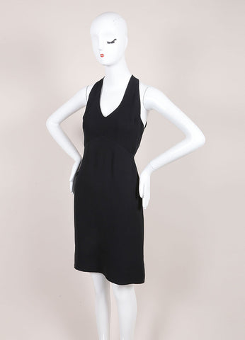Jil Sander Black Silk Open Back Sleeveless Dress Sideview
