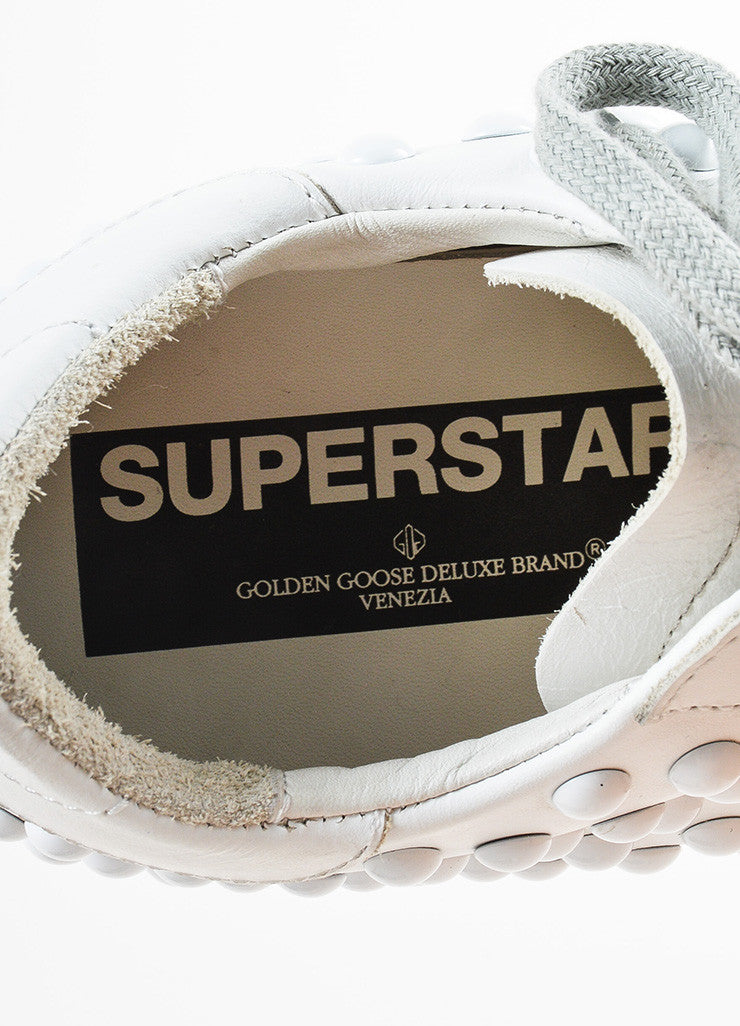Golden Goose Deluxe Brand White Leather Studded Superstar Sneakers Brand