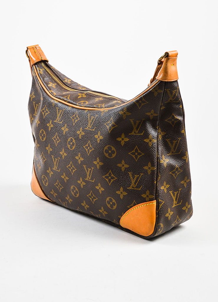 "Louis Vuitton Brown Monogram Coated Canvas ""Boulogne"" Shoulder Bag Sideview"