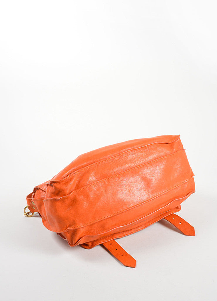 "Proenza Schouler Orange ""PS1"" Large Satchel Flap Bag Bottom View"
