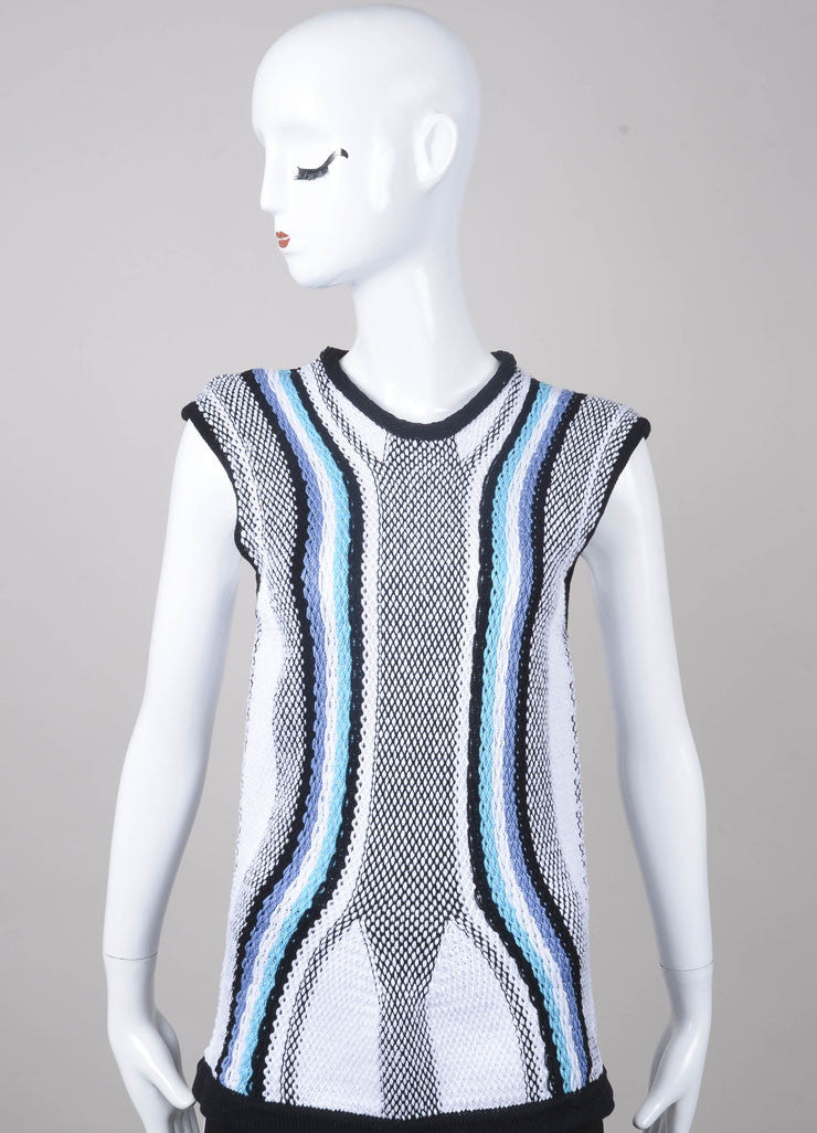 New With Tags Striped Sleeveless Knit Cotton Top