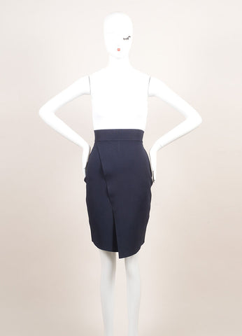 A.L.C. New With Tags White, Navy, and Orange Knit Color Block Bodycon Dress Frontview