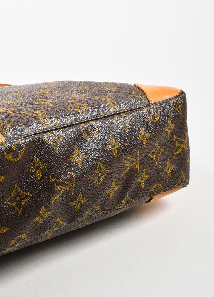 "Louis Vuitton Brown Monogram Coated Canvas ""Boulogne"" Shoulder Bag Bottom View"