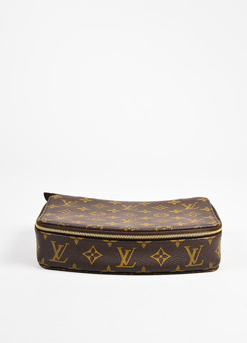 "Louis Vuitton Brown Monogram Coated Canvas ""Monte Carlo"" Jewelry Case Frontview"