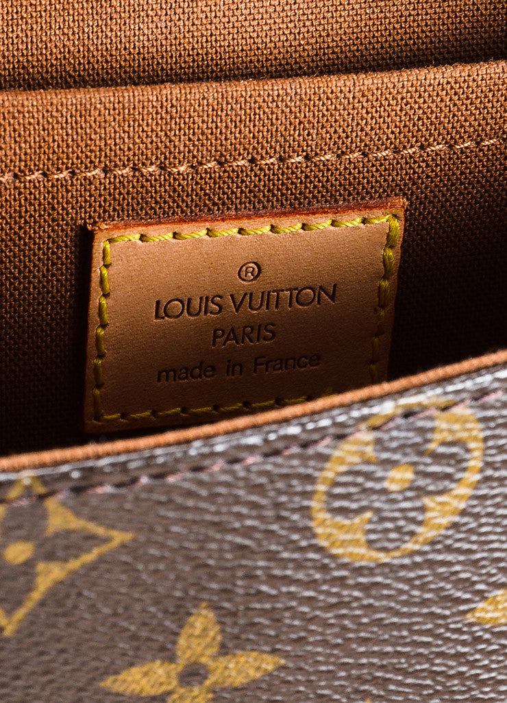 "Louis Vuitton Brown and Tan Coated Canvas Leather Monogram ""Marelle Sac a Dos"" Bag Brand"