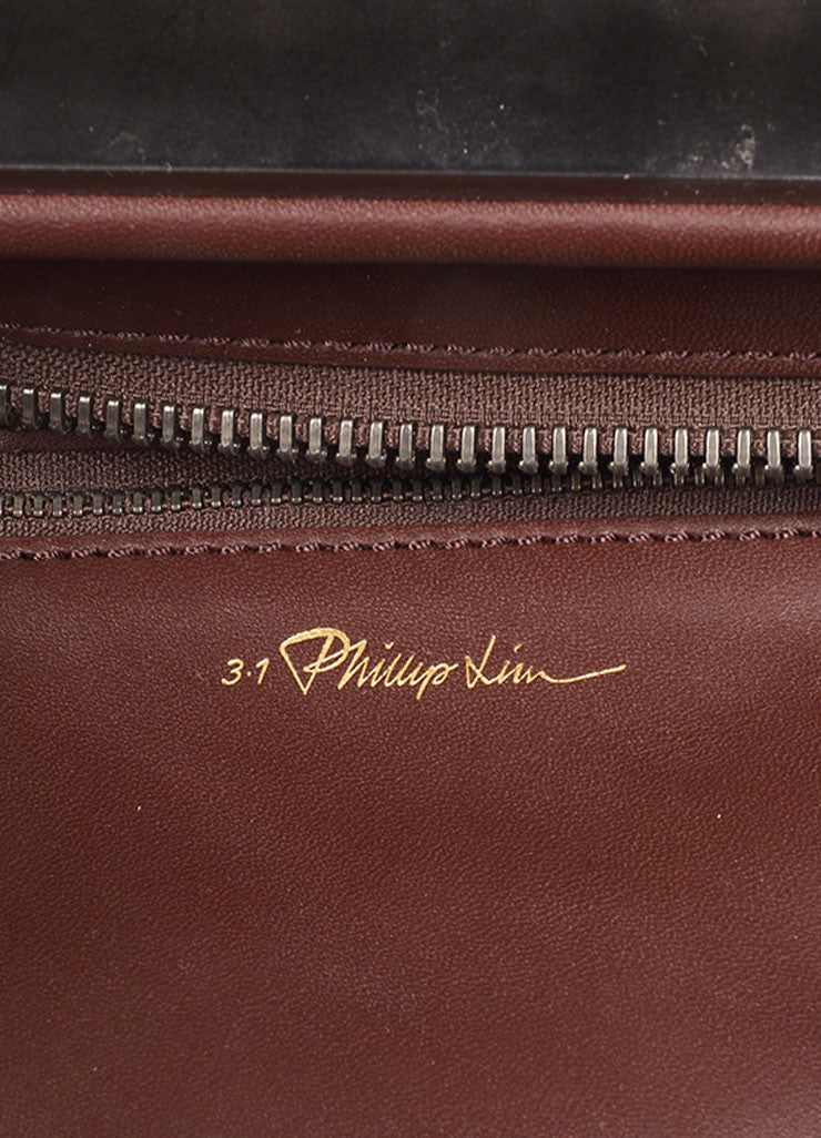 "3.1 Phillip Lim Brown Leather and Springbok Antelope Fur Small ""Ryder"" Satchel Bag Brand"