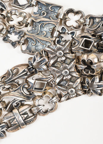 Carl Priolo Sterling Silver Wide Link Toggle Belt Detail