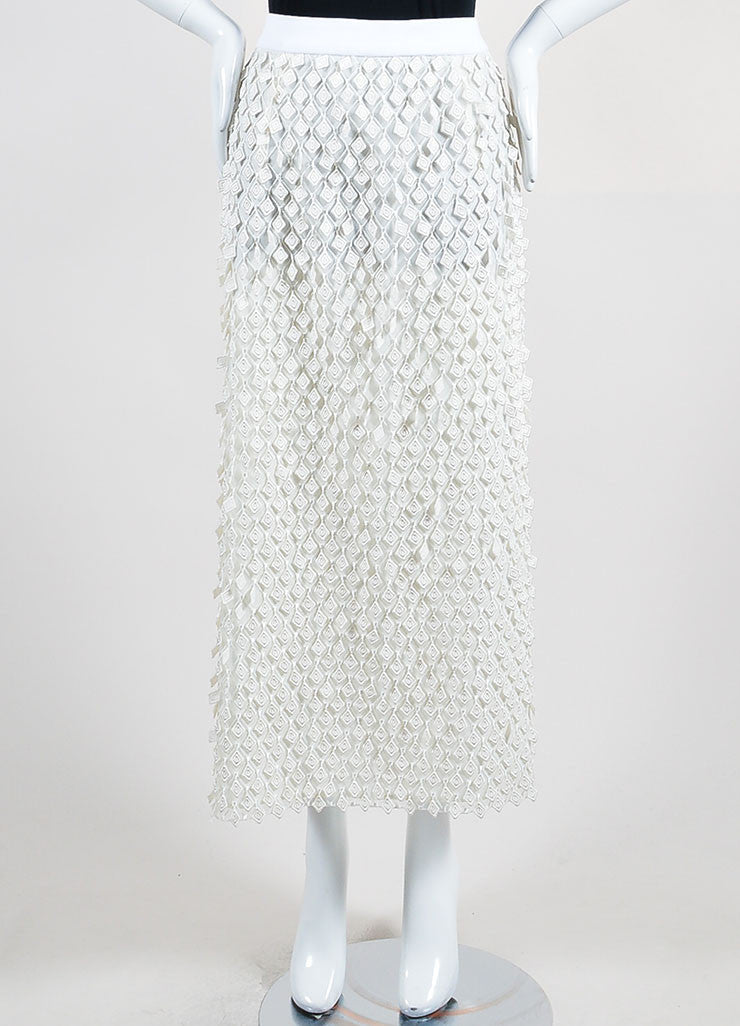 Off-White Balenciaga Diamond Fringe Midi Skirt Front